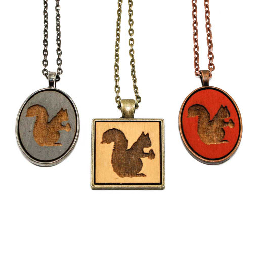 Small Cameo Pendants - Squirrel