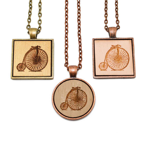 Small Cameo Pendants - Penny Farthing