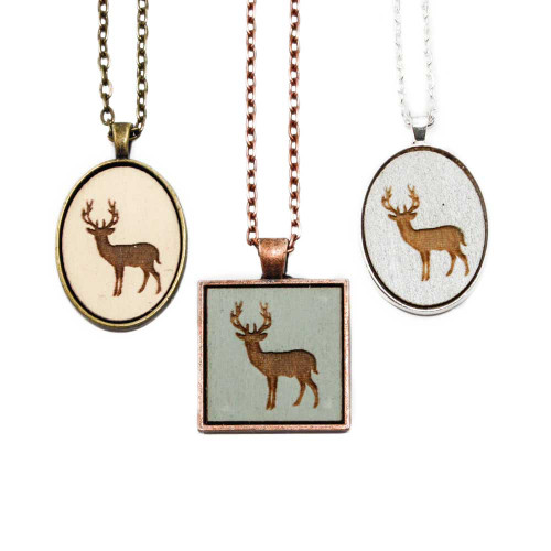 Small Cameo Pendants - Buck