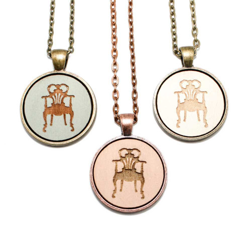Small Cameo Pendants - Antique Chair