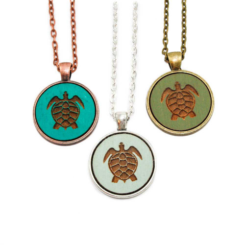Small Cameo Pendants - Sea Turtle