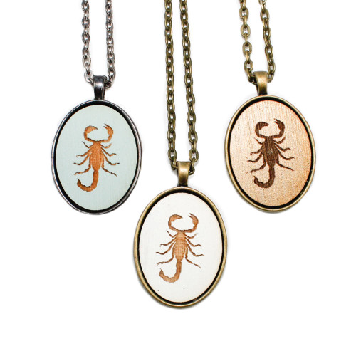 Small Cameo Pendants - Scorpion