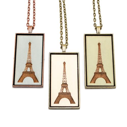Large Cameo Pendant - Eiffel Tower