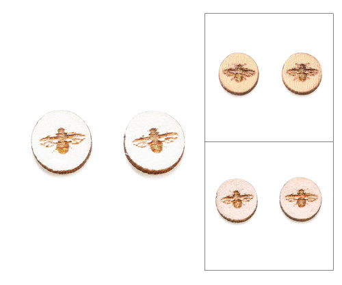 Cameo Post Earring - Bee