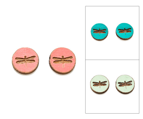 Cameo Post Earring - Dragonfly