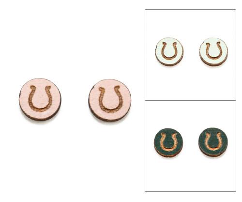 Cameo Post Earring - Horseshoe