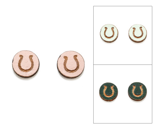 Cameo Post Earring - Horseshoe