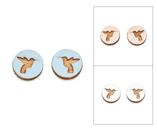 Cameo Post Earring - Hummingbird