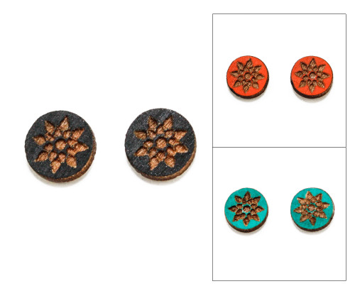 Cameo Post Earring - Modern Floral (Geo Floral)