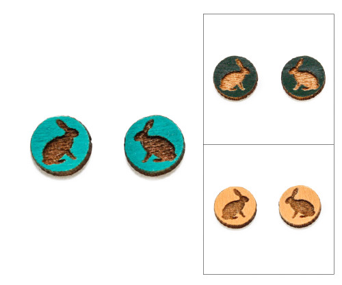 Cameo Post Earring - Rabbit (Sitting)