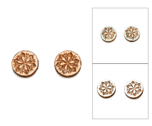 Cameo Post Earrings - Snowflake