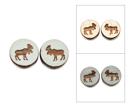 Cameo Post Earrings - Moose