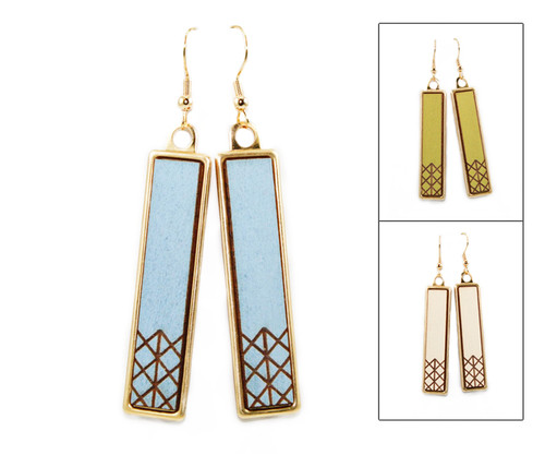 Geo Dangle Earring - Geometric Criss Cross