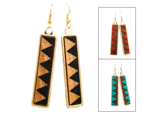 Geo Dangle Earring - Geometric Sawtooth