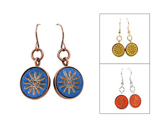 Small Dangle Earring - Mod Geo Starburst