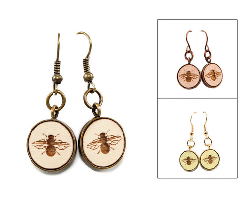 Small Dangle Earring - Bee