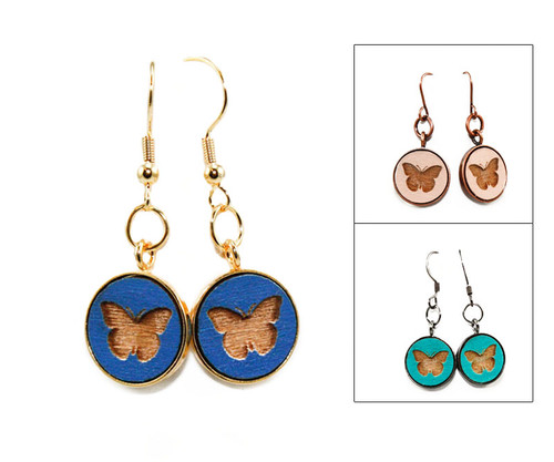 Small Dangle Earring - Butterfly