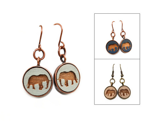Small Dangle Earring - Elephant
