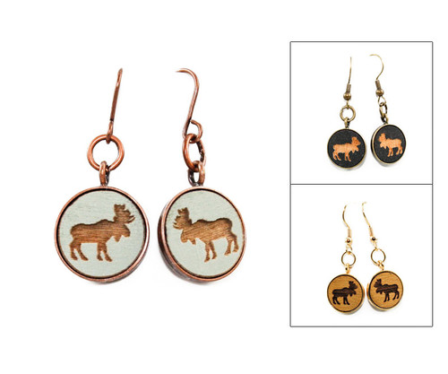 Small Dangle Earring - Moose