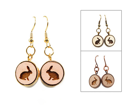 Small Dangle Earring - Rabbit (Sitting)