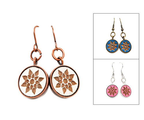 Small Dangle Earring - Mod Geo Floral