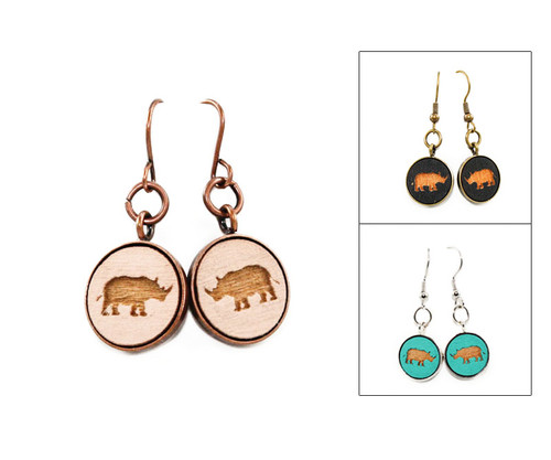 Small Dangle Earring - Rhino