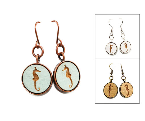 Small Dangle Earring - Seahorse