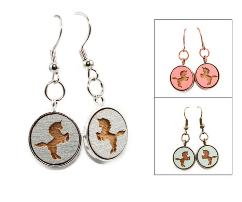 Small Dangle Earring - Unicorn