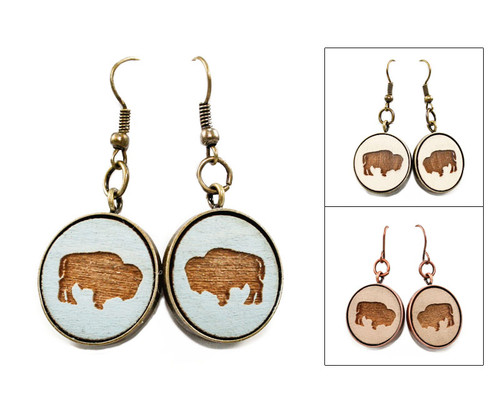 Large Dangle Earrings - Buffalo