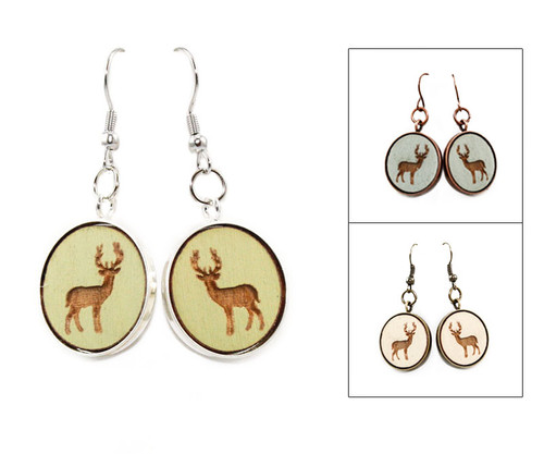 Large Dangle Earrings - Buck