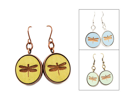 Large Dangle Earrings - Dragonfly