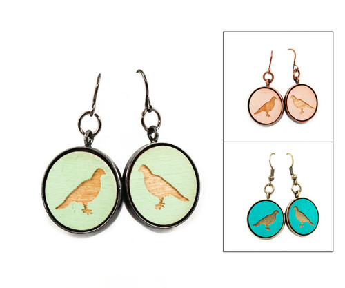 Large Dangle Earrings - Dove