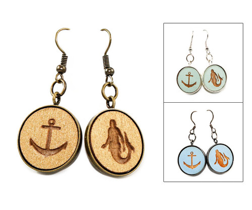 Large Dangle Earrings - Sailor