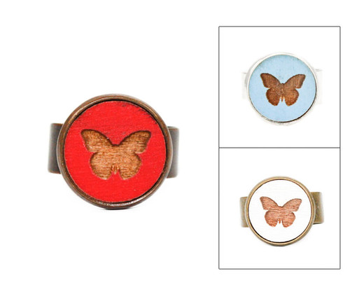 Small Cameo Ring - Butterfly