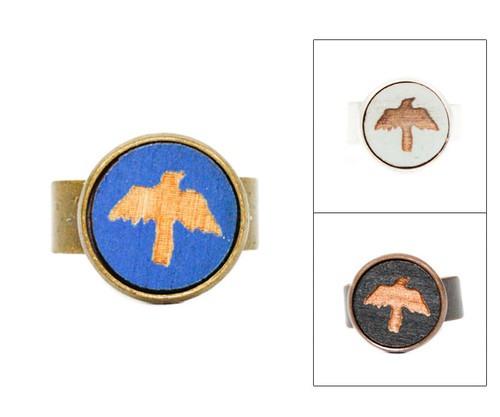 Small Cameo Ring - Crow