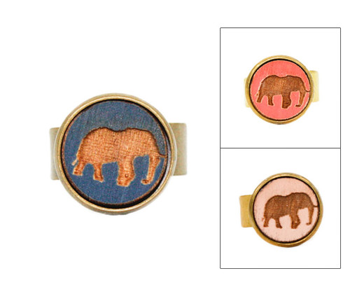 Small Cameo Ring - Elephant