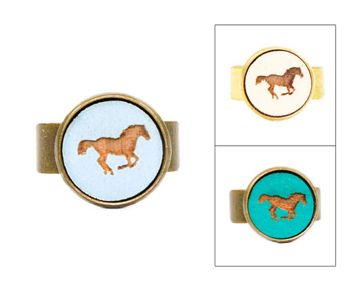 Small Cameo Ring - Horse (Galloping)