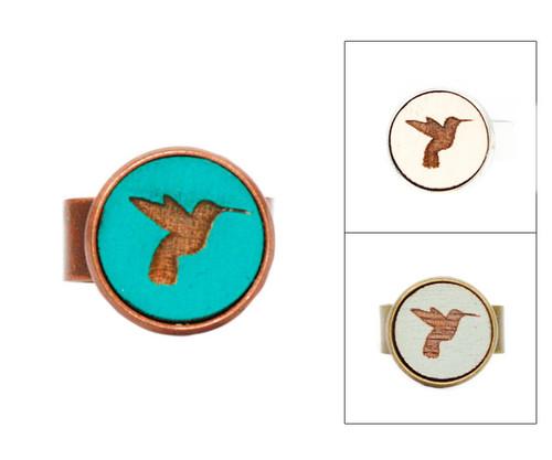 Small Cameo Ring - Hummingbird