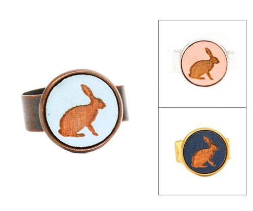 Small Cameo Ring - Rabbit (Sitting)