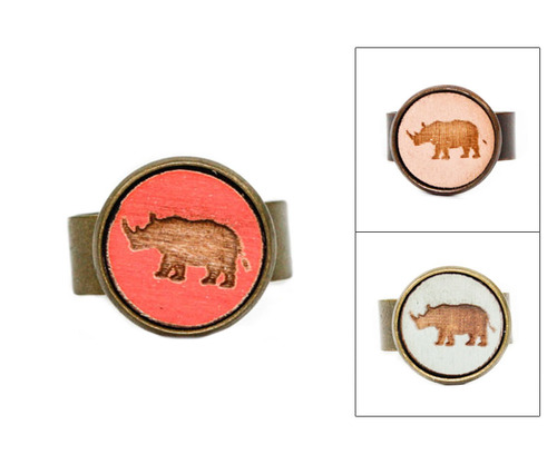 Small Cameo Ring - Rhino