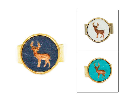 Small Cameo Ring - Buck