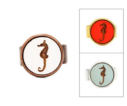 Small Cameo Ring - Seahorse