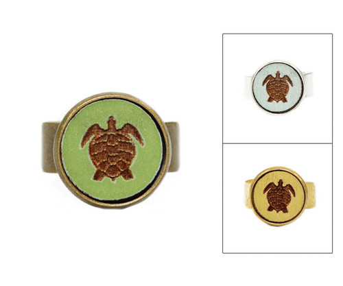Small Cameo Ring - Sea Turtle
