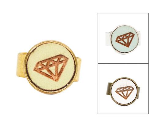 Small Cameo Ring - Diamond