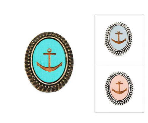 Large Cameo Ring - Anchor