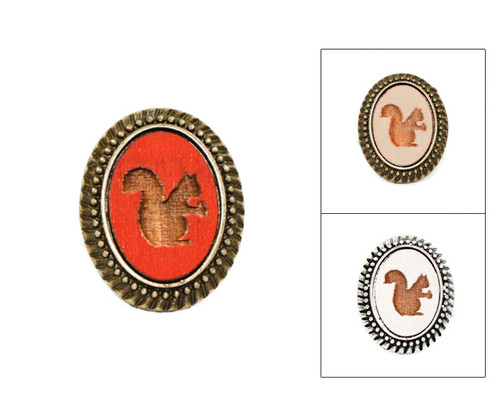 Large Cameo Ring - Squirrel