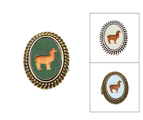 Large Cameo Ring - Llama
