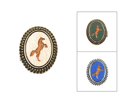 Large Cameo Ring - Horse (Rearing)