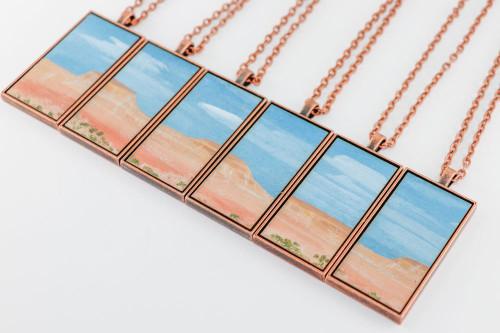 Landscape Painting Pendant - Desert Plateau
