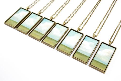 Landscape Painting Pendant - Open Prairie